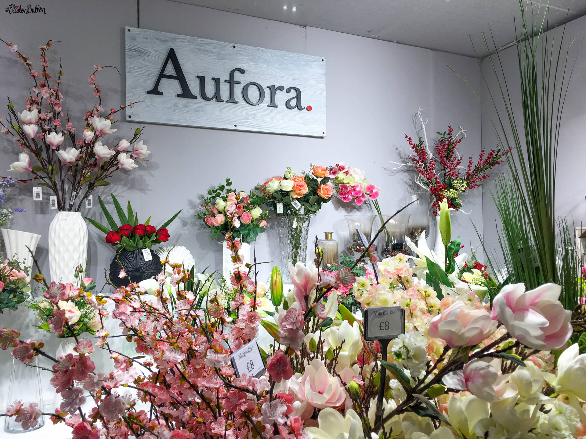 Aufora Silk Flowers at Grand Designs Live 2017 with Eliston Button - Grand Designs Live 2017 – Part Two at www.elistonbutton.com - Eliston Button - That Crafty Kid – Art, Design, Craft & Adventure.