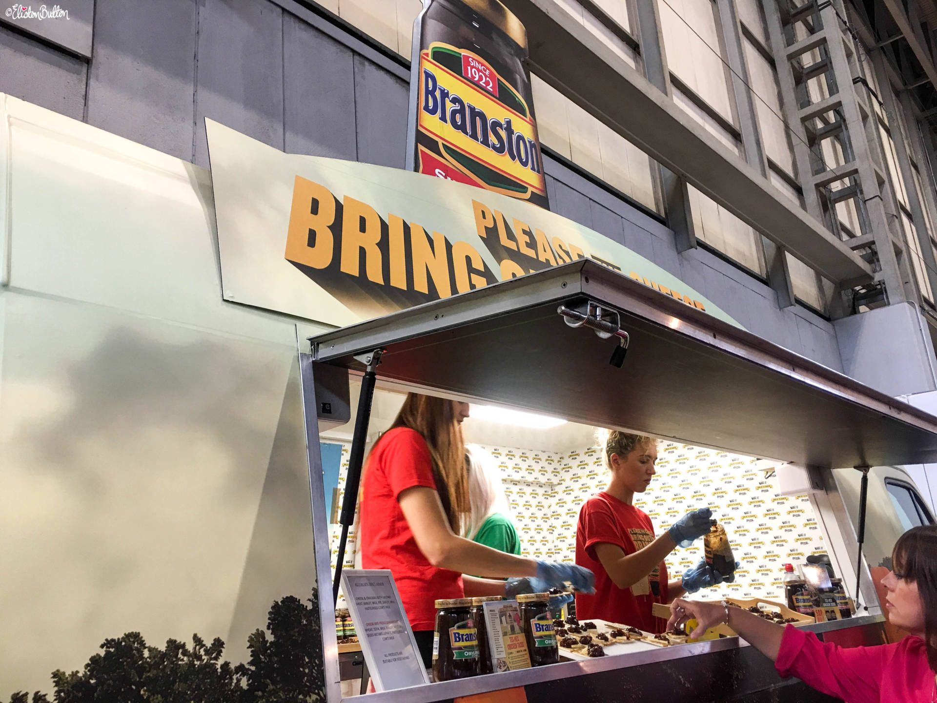 Branston Pickle Van at Grand Designs Live 2017 with Eliston Button - Grand Designs Live 2017 – Part Two at www.elistonbutton.com - Eliston Button - That Crafty Kid – Art, Design, Craft & Adventure.