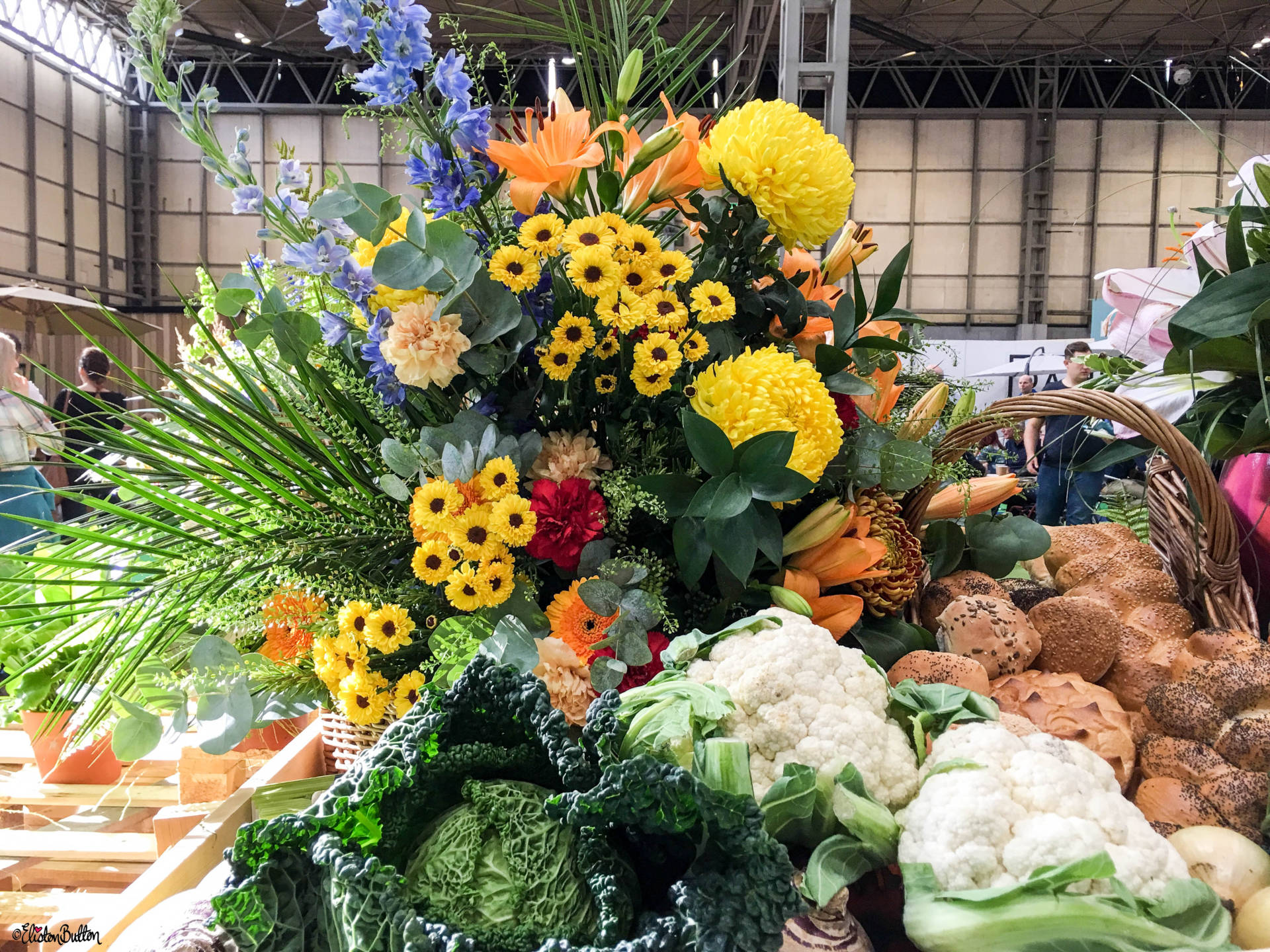 Farm Shop Harvest from Becketts Farm at Grand Designs Live 2017 with Eliston Button - Grand Designs Live 2017 – Part Two at www.elistonbutton.com - Eliston Button - That Crafty Kid – Art, Design, Craft & Adventure.