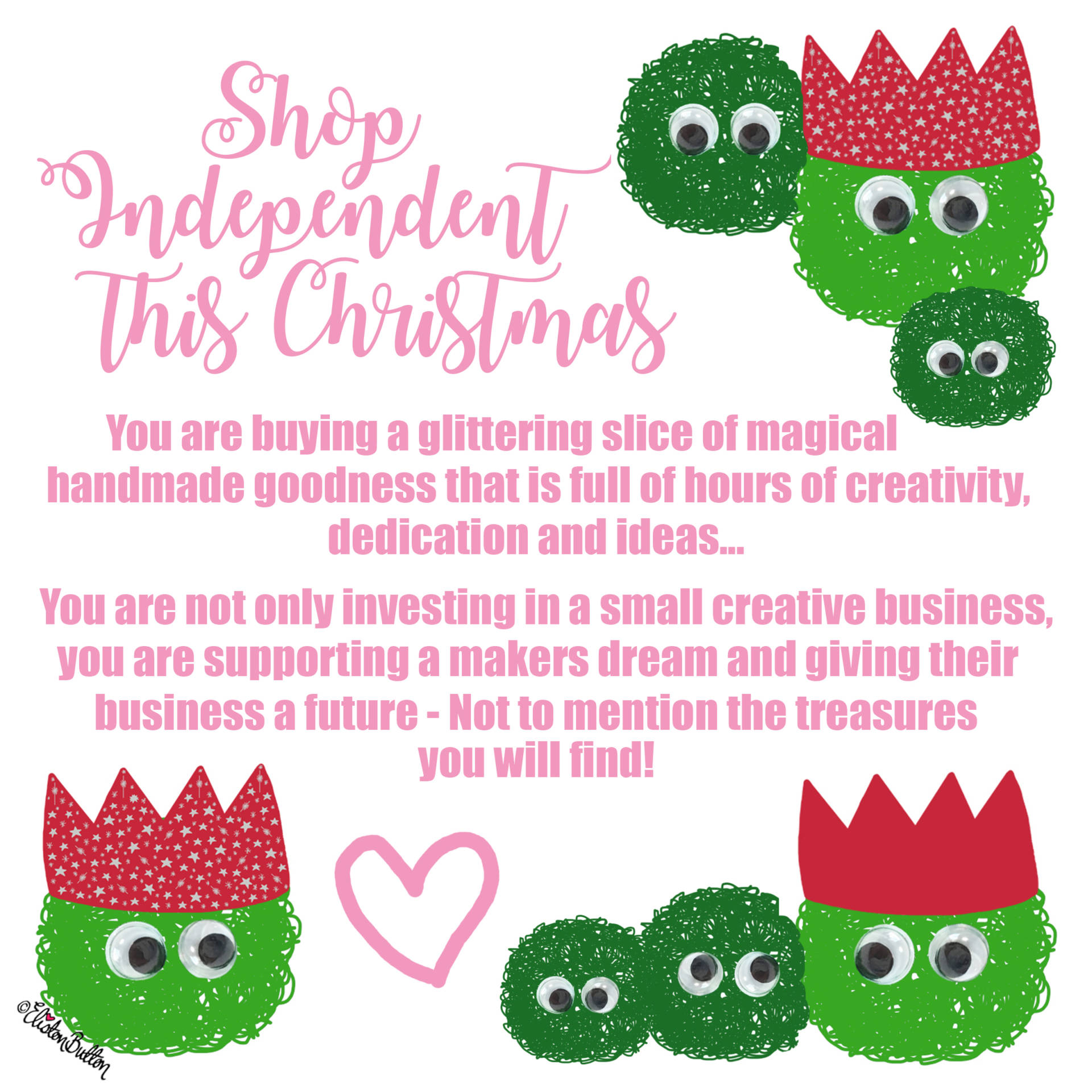 Shop Independent This Christmas by Eliston Button - Last Christmas Postage Dates! at www.elistonbutton.com - Eliston Button - That Crafty Kid – Art, Design, Craft & Adventure.