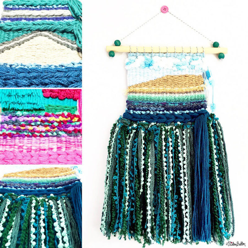 Colourful Woven Wall Hangings by Eliston Button - Meet the Maker Week 2017 at www.elistonbutton.com - Eliston Button - That Crafty Kid – Art, Design, Craft & Adventure.