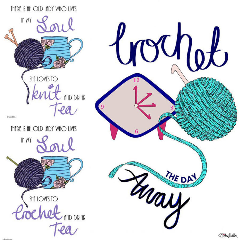 Crochet and Knitting Illustrated Quote Prints by Eliston Button - Meet the Maker Week 2017 at www.elistonbutton.com - Eliston Button - That Crafty Kid – Art, Design, Craft & Adventure.