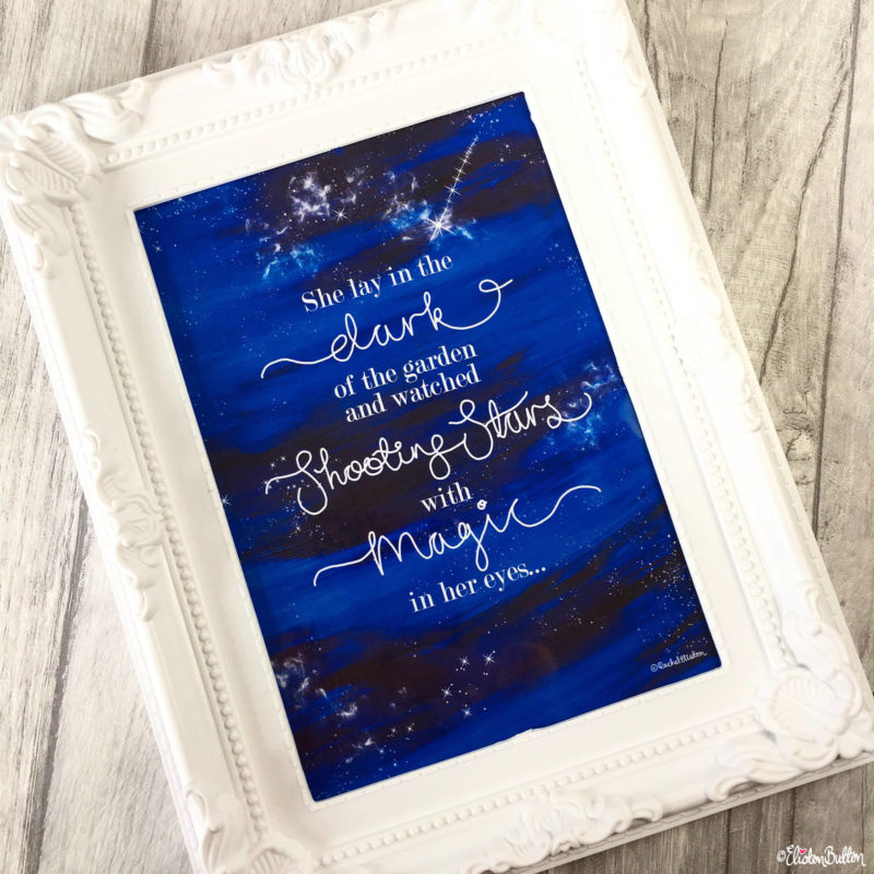 Shooting Star Magic Night Sky Galaxy Quote Print by Eliston Button - Eliston Button is Four! at www.elistonbutton.com - Eliston Button - That Crafty Kid – Art, Design, Craft & Adventure.