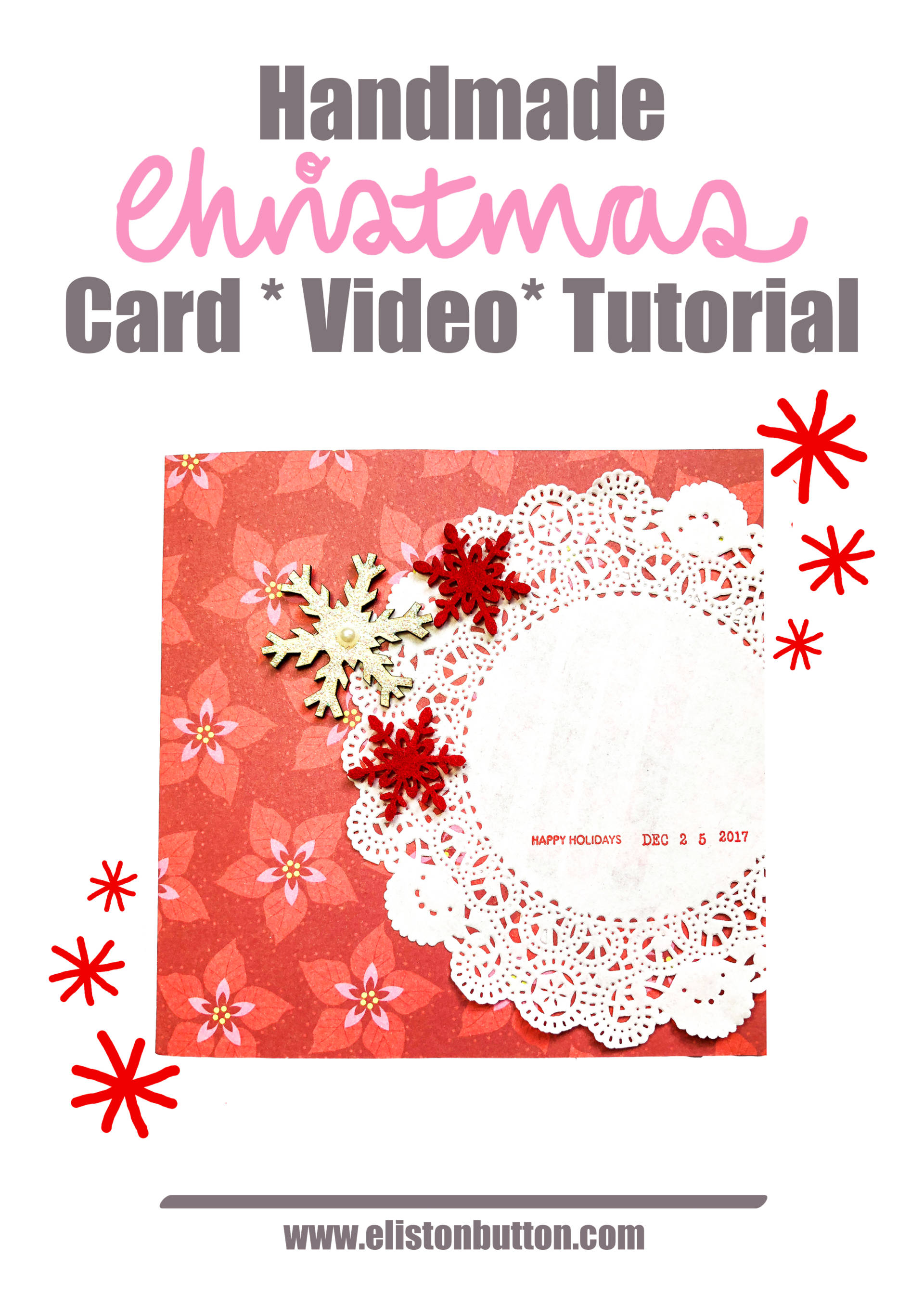 Tutorial Tuesday - A Creative Christmas Card Video Tutorial by Eliston Button - Tutorial Tuesday - A Creative Christmas Card *Video* Tutorial at www.elistonbutton.com - Eliston Button - That Crafty Kid – Art, Design, Craft & Adventure.
